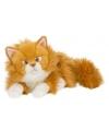 Rode katten/poezen knuffel 25 cm